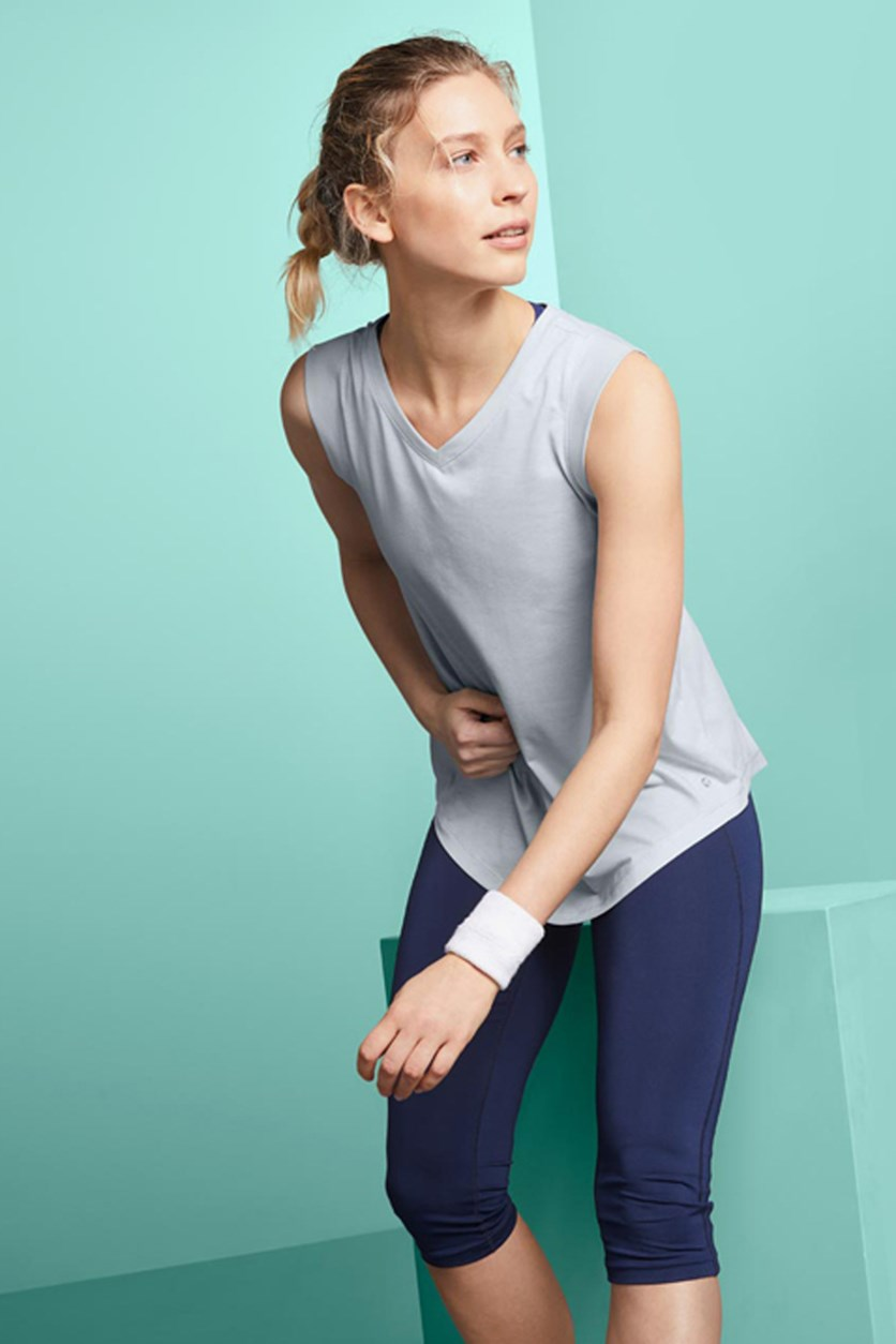 2 Pieces Performance Tops, Navy/Gray