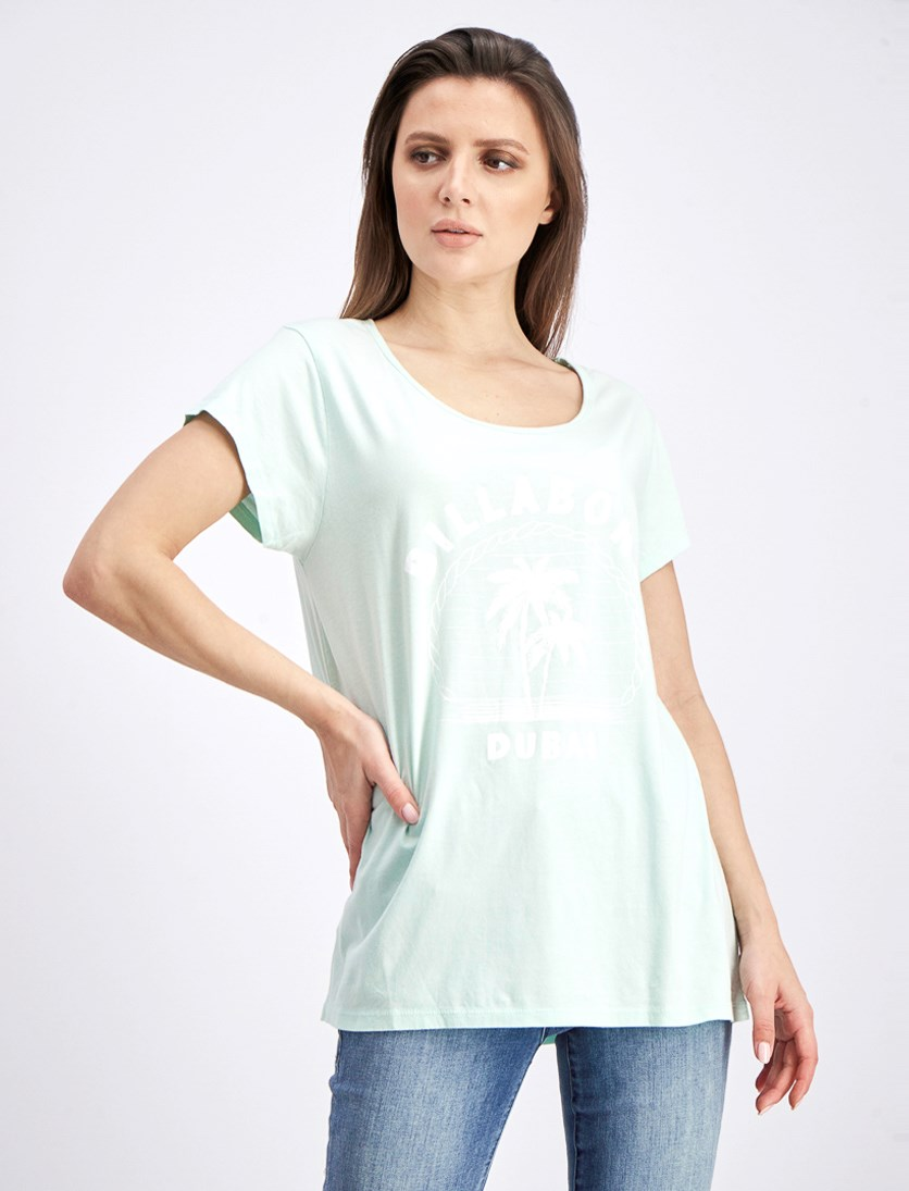 Women's Holiday Dubai Tee, Bleached Aqua