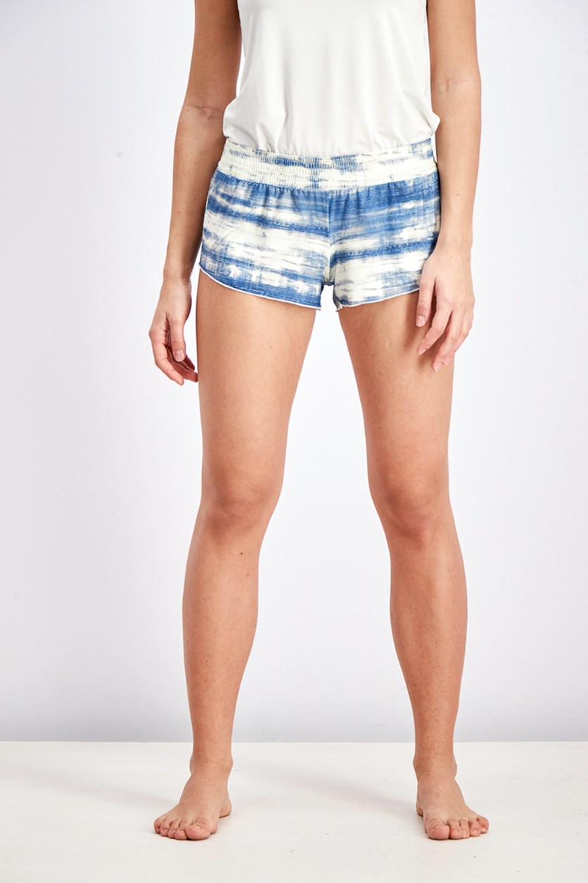 Women's Waves For Daze Volleyball Short, Blue/Ivory