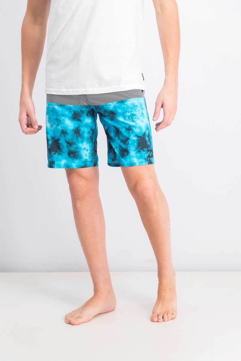 Men's Tribong  x Havannah Boardshorts, Aqua/Black Combo