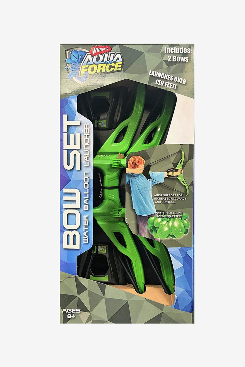 Water Balloon Launcher Bow Set Includes Two Bows, Green