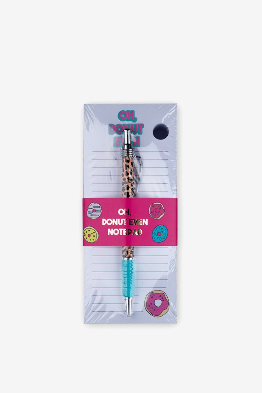 Donut Even Notepad With Pen, Pink Combo