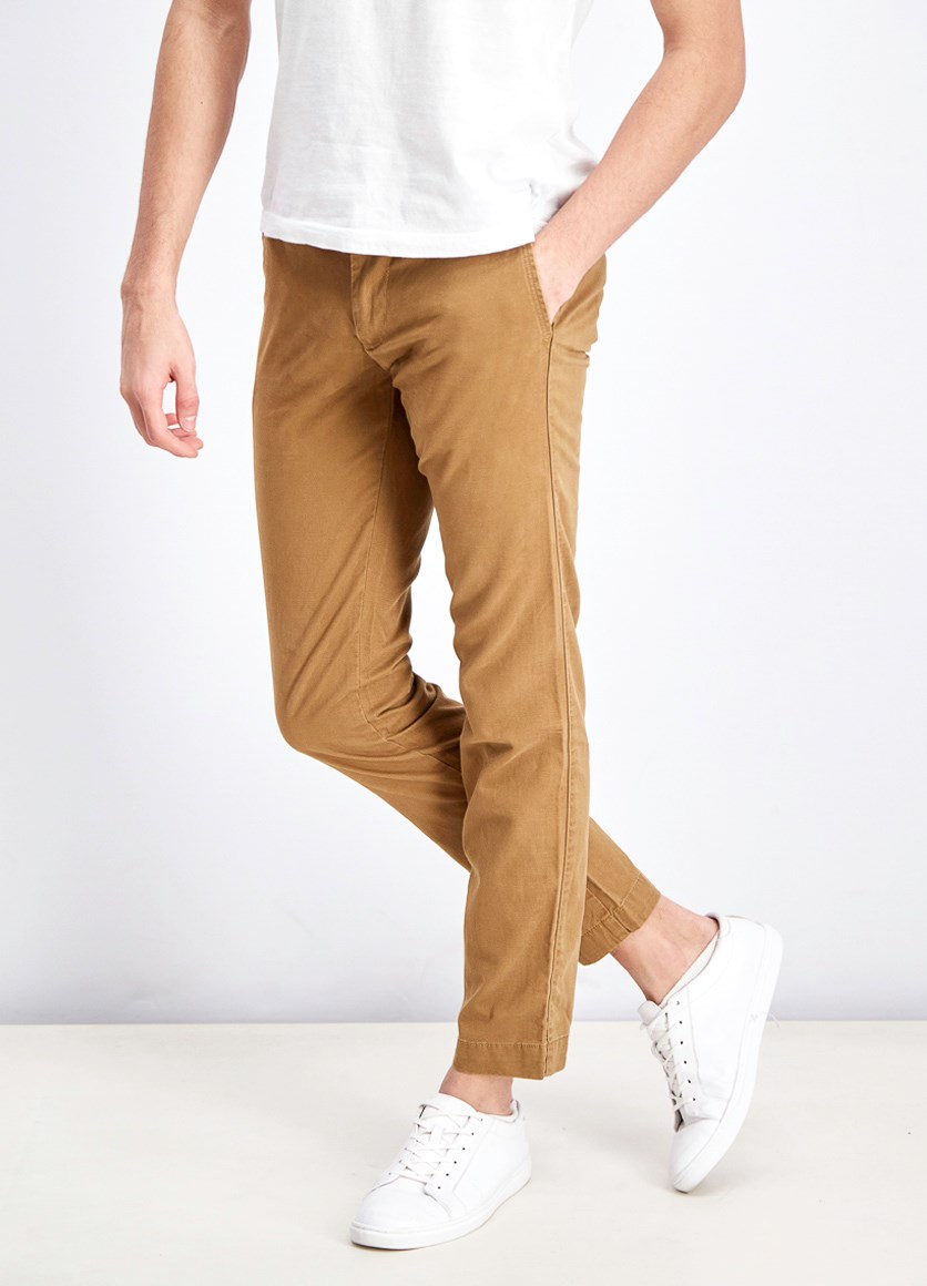 Men's Slim Fit Pants, Khaki