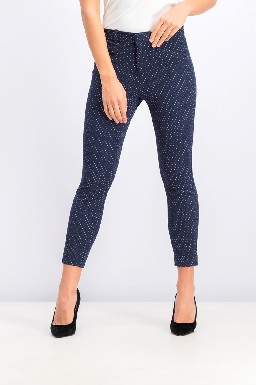 Women's Skinny Ankle Pants, Navy Blue