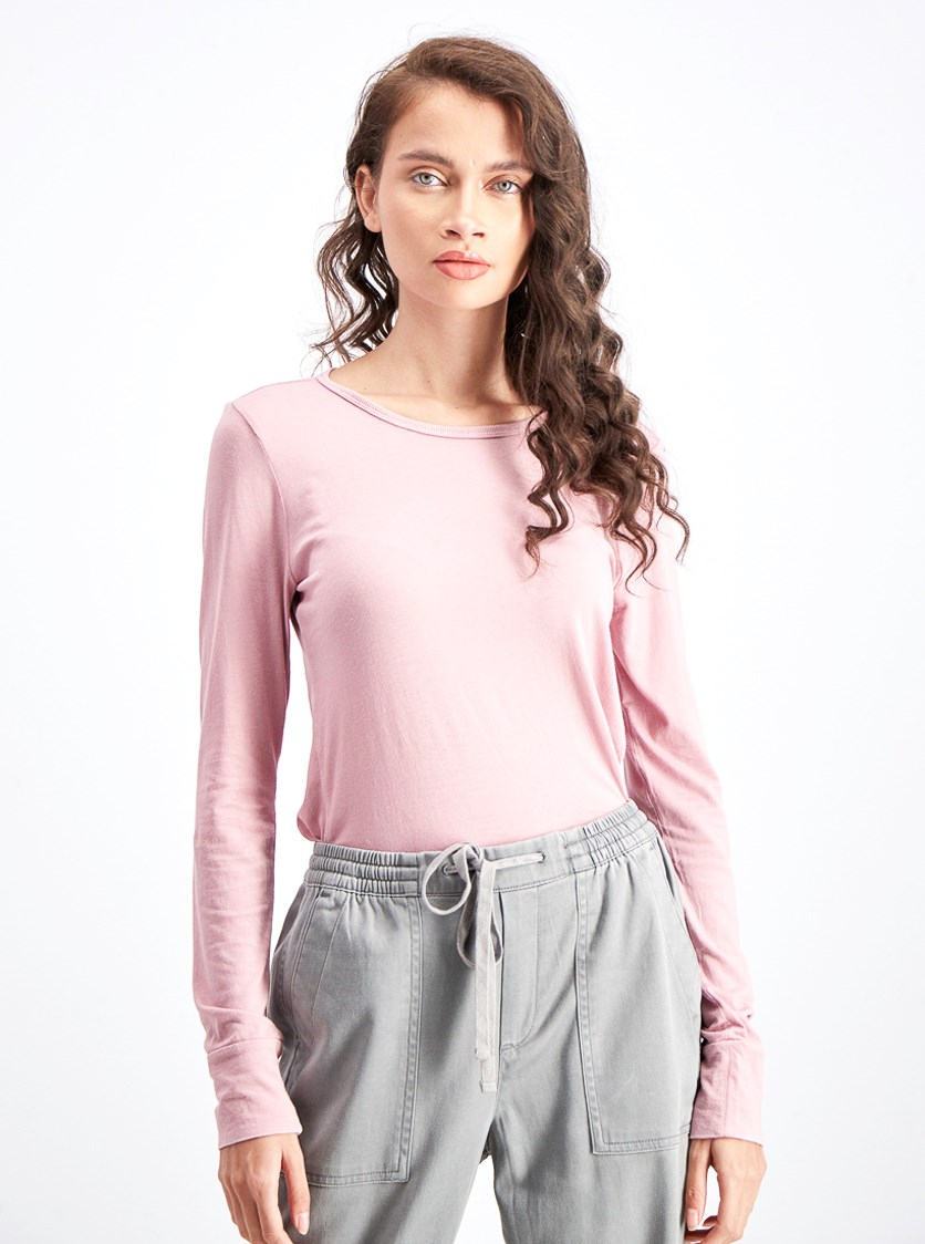 Women's Longsleeve Top, Princess Pink