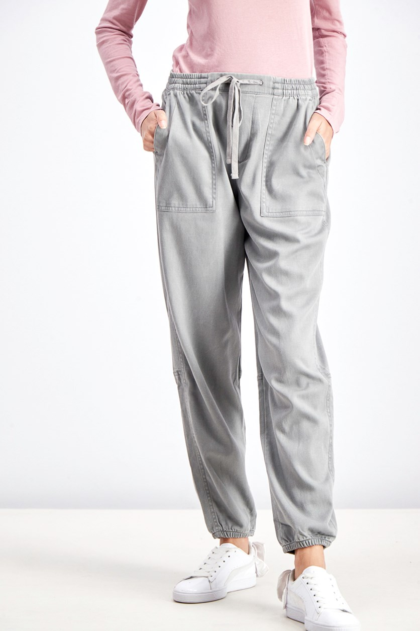 Women's Utility Jogger Pants, Medium Grey