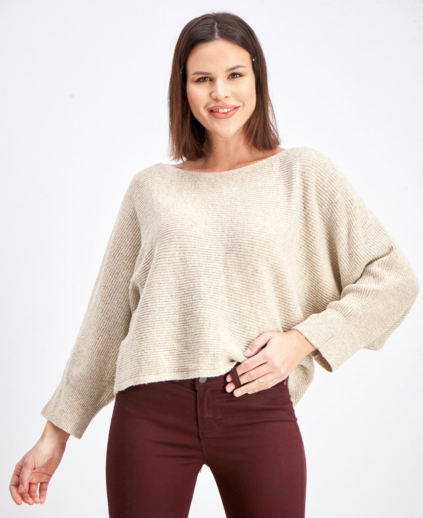 Women's Pull Over Knit Sweater, Oatmeal