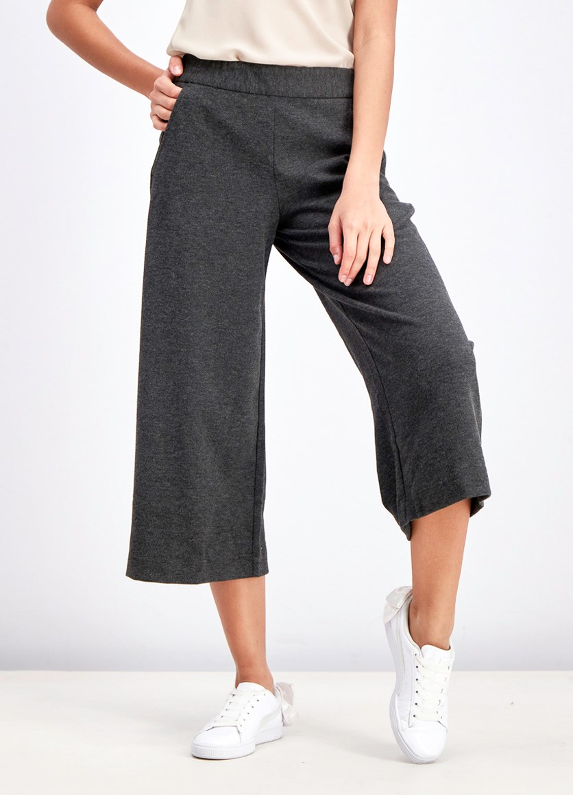 Women's Pull On Cropp Pants, Charcoal Heather