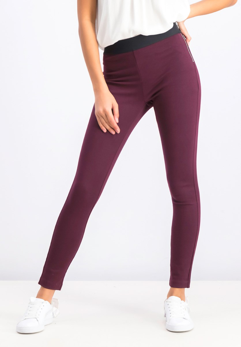 Women's Pants, Burgundy