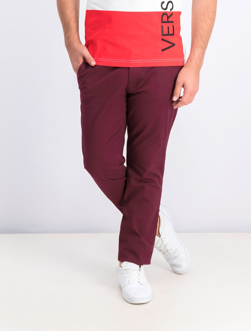 Men's Skinny Pants, Burgundy