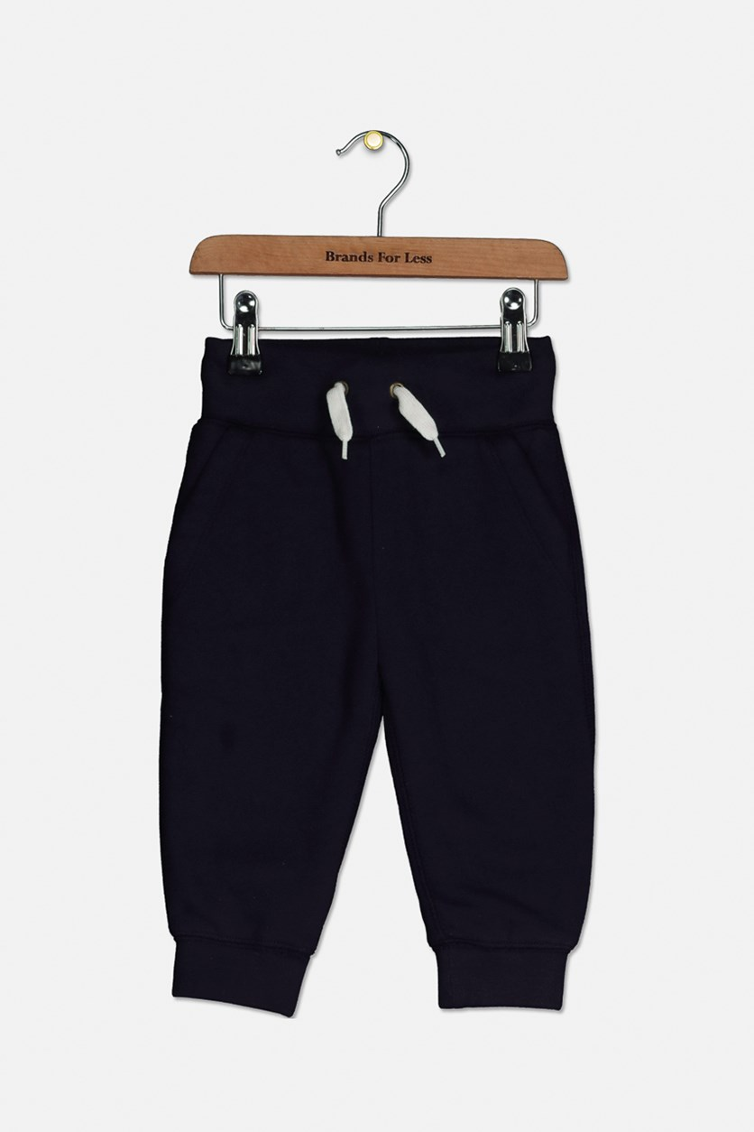 Toddler Boys Sherpa Trouser Pants, Navy