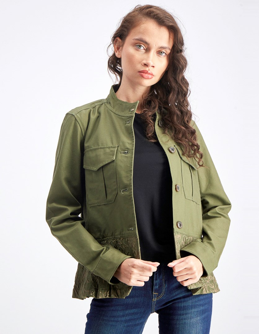 Women's Utility Bomber Jacket, Army Green