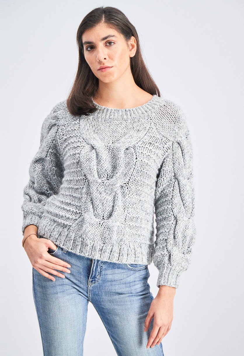 Women's Knit Sweater, Grey
