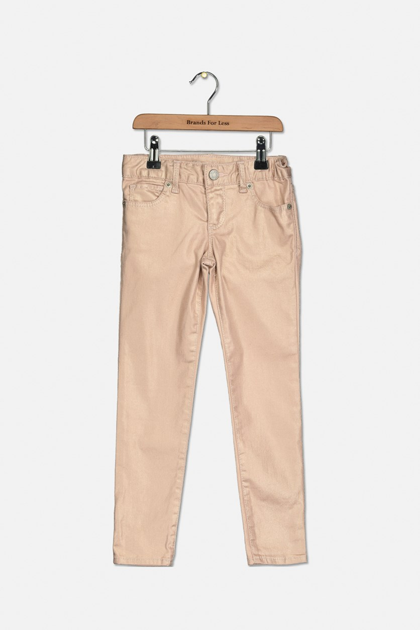 Kid's Girl's Five Pocket Jeans, Blush