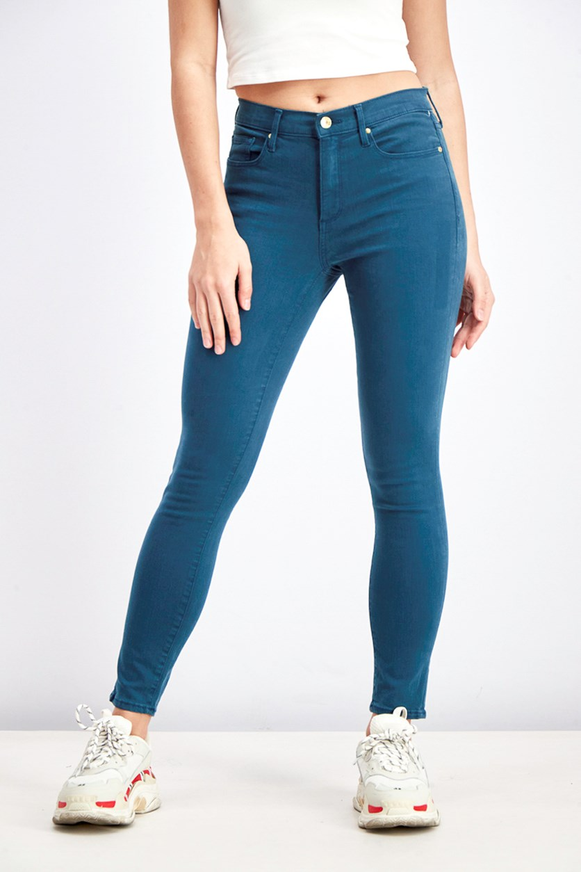 Women's Sculpt True Skinny Jeans, Teal Green