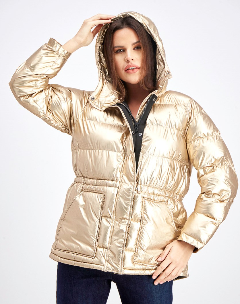 Women's Puffer Jacket, Gold