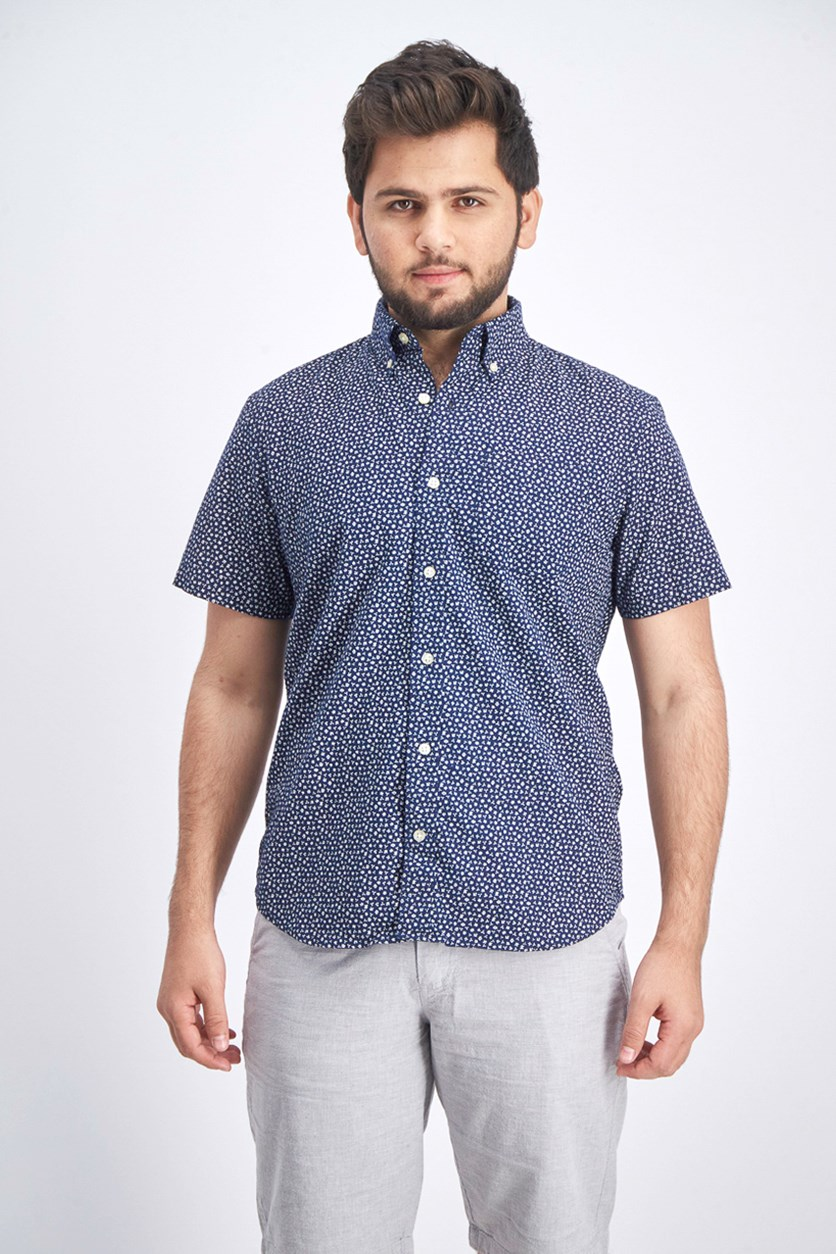 Men's Regular Fit Casual Shirt, Navy Blue
