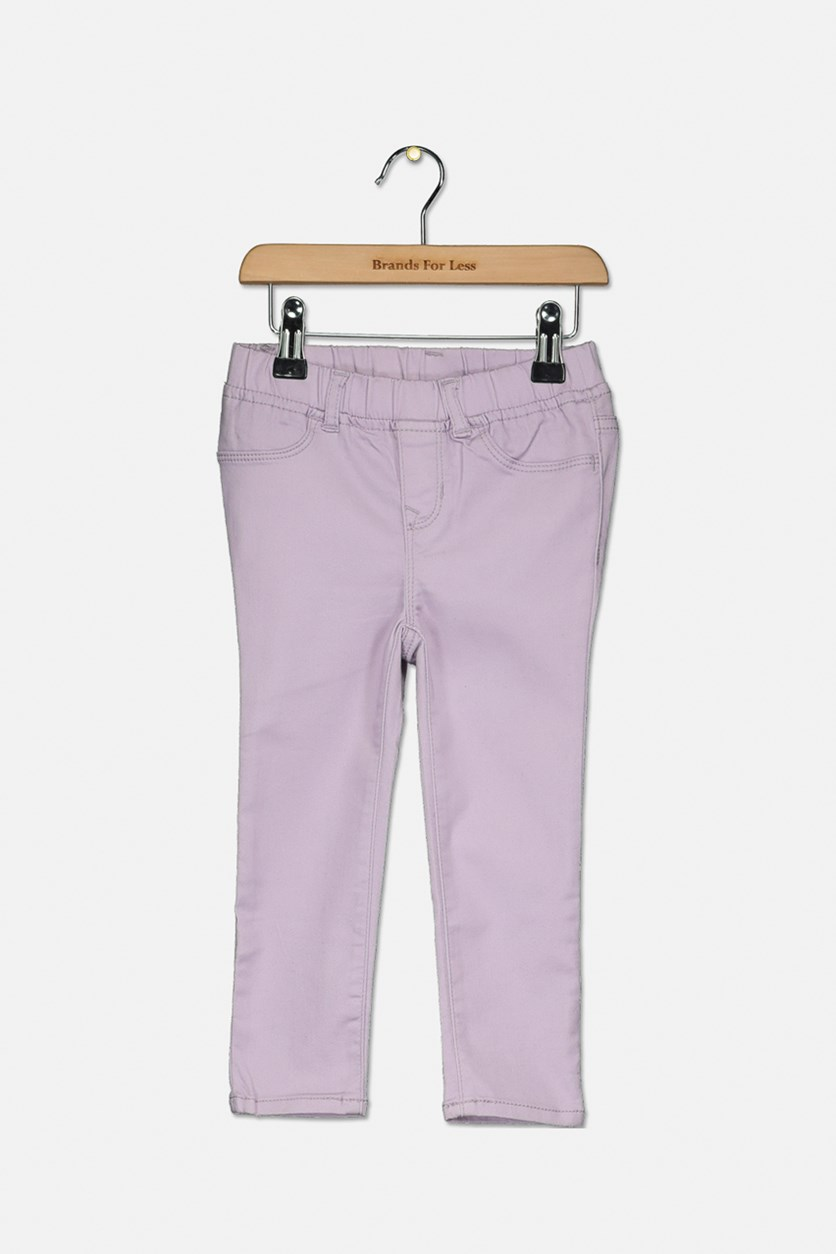 Baby Girls Stretch Pants, Pale Lilac