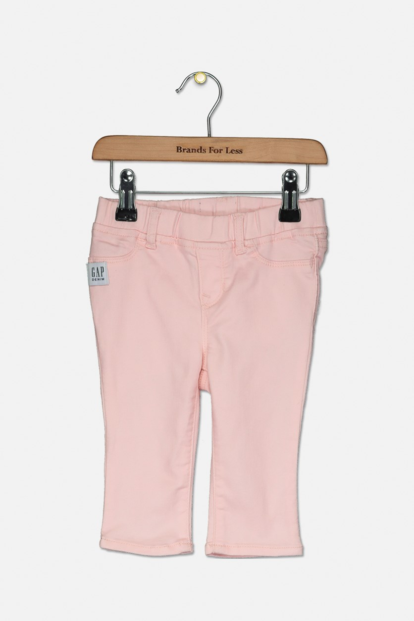Baby Girls Stretch Pants, Light Pink