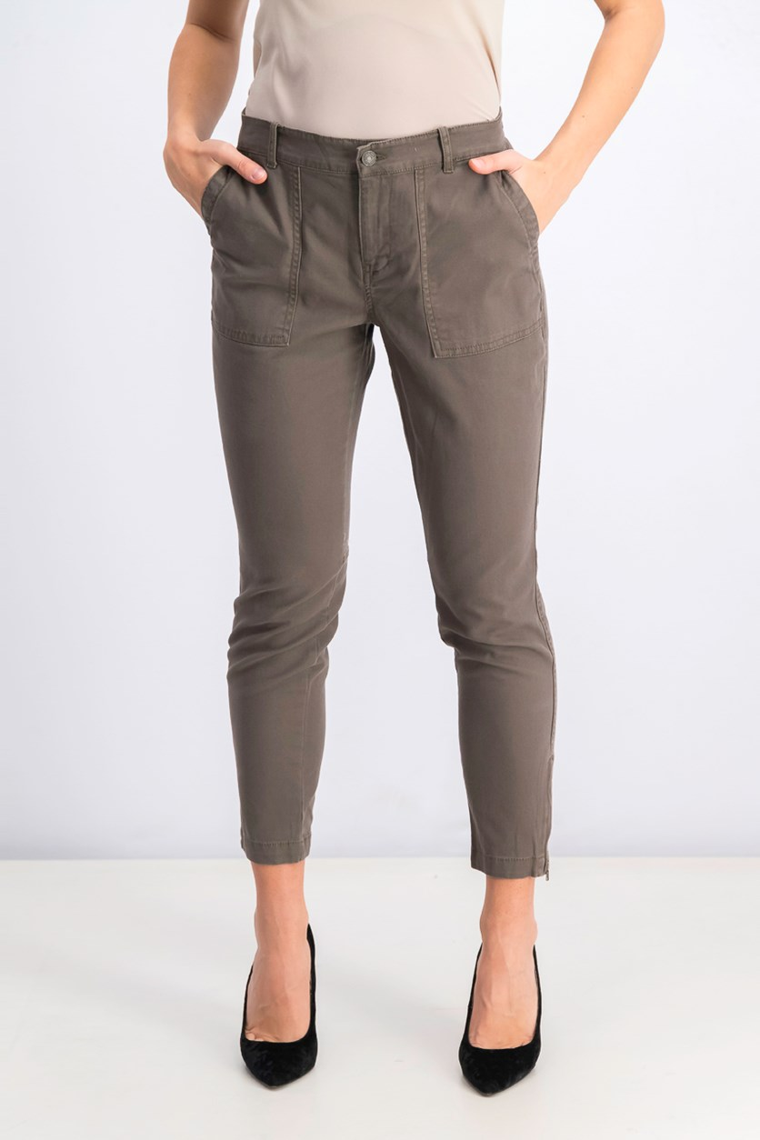 Women's Four Pocket Pants, Brown