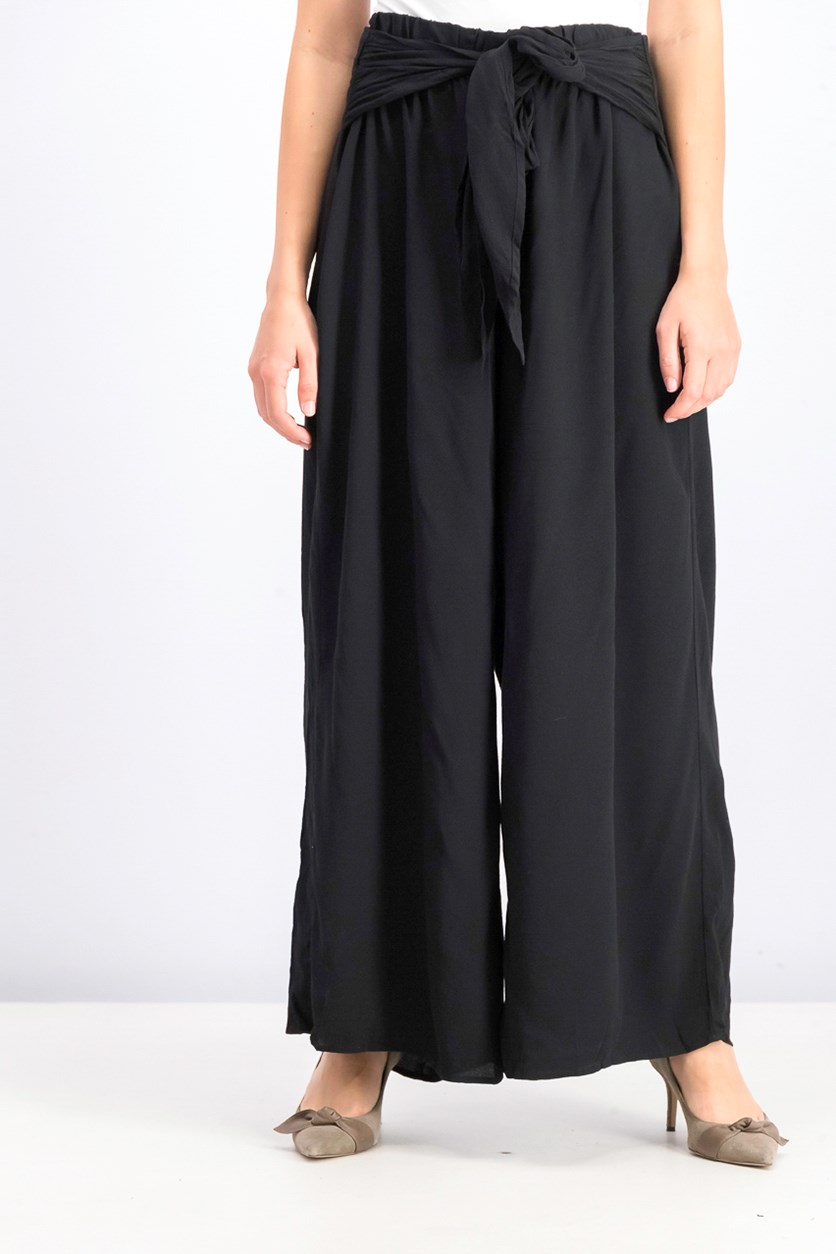 Women's Wide-Leg Pants, Black