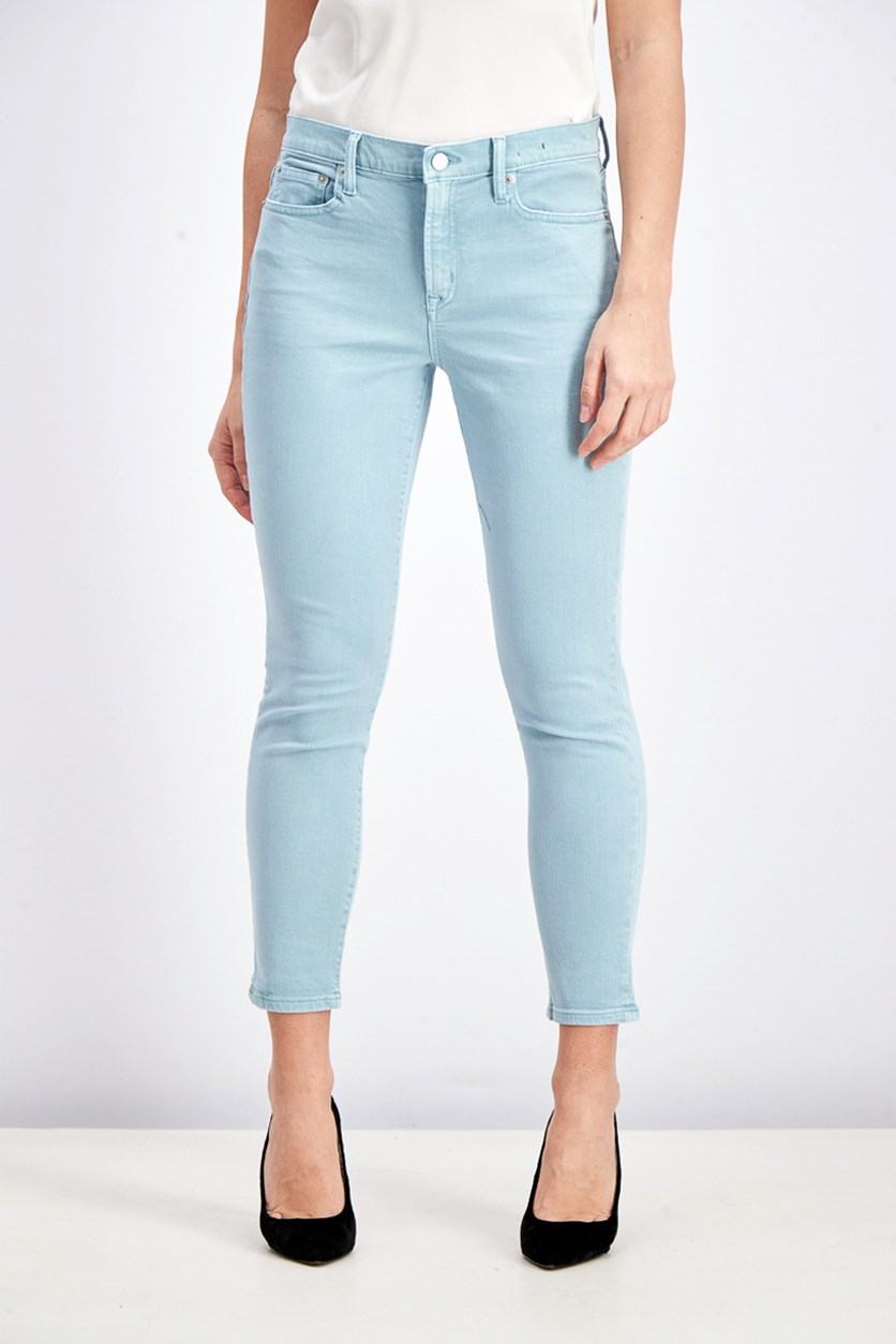 Women's True Skinny Jeans, Aqua Blue
