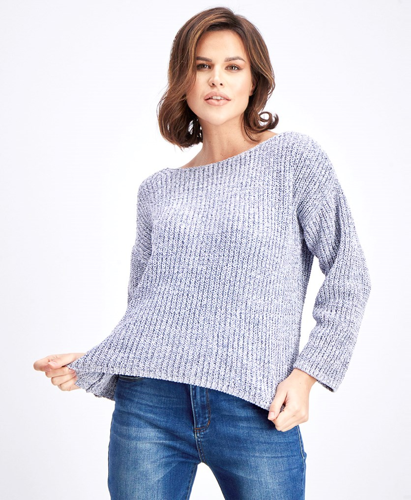 Women's Boat Neck Sweater, Lavender