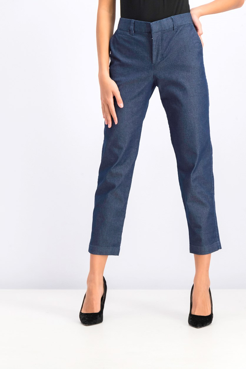 Women's Slim City Crop Pants, Navy