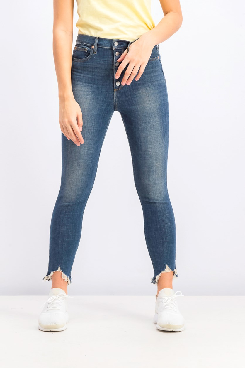 Women's Pull On Skinny Jeans, Blue Wash