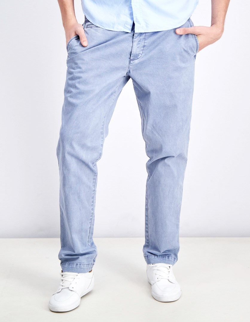 Men's Vintage Slim Pants, Light Blue Wash