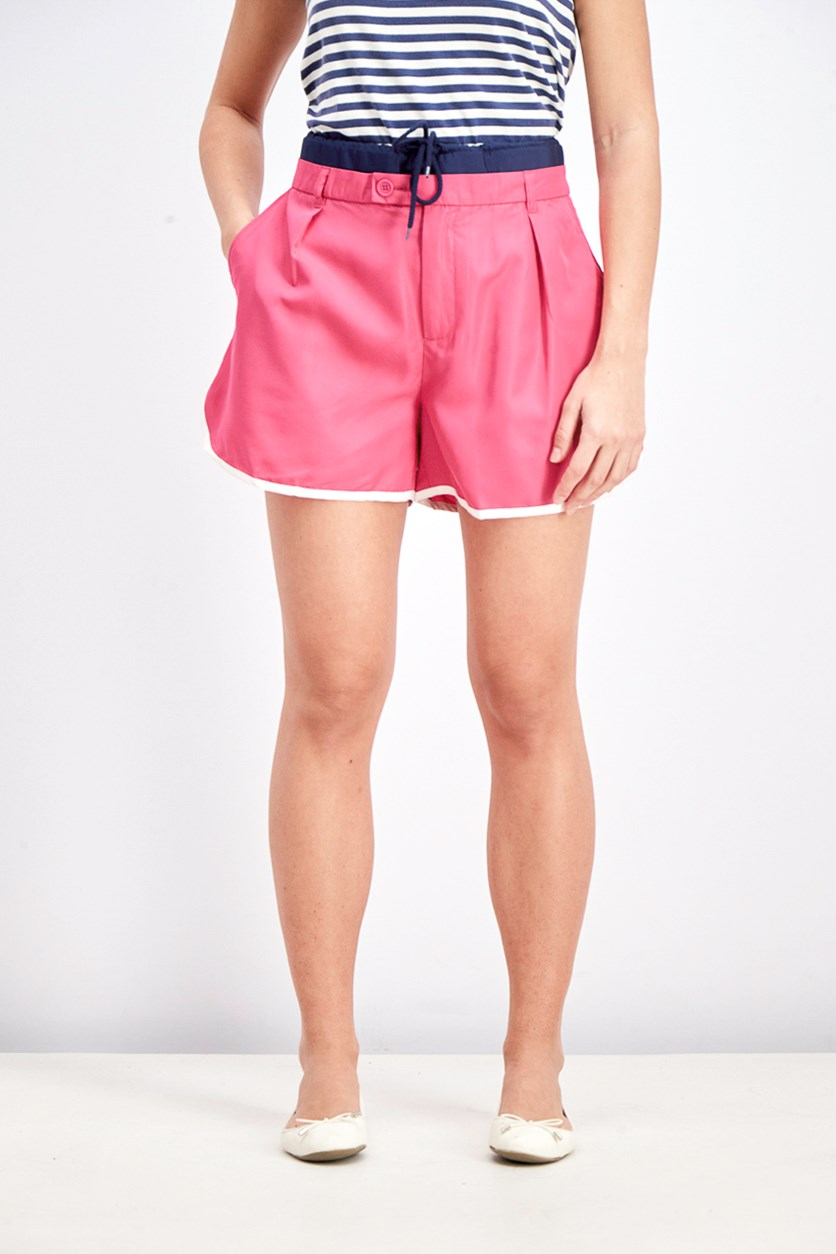 Women's Drawstring White Lining Short, Pink