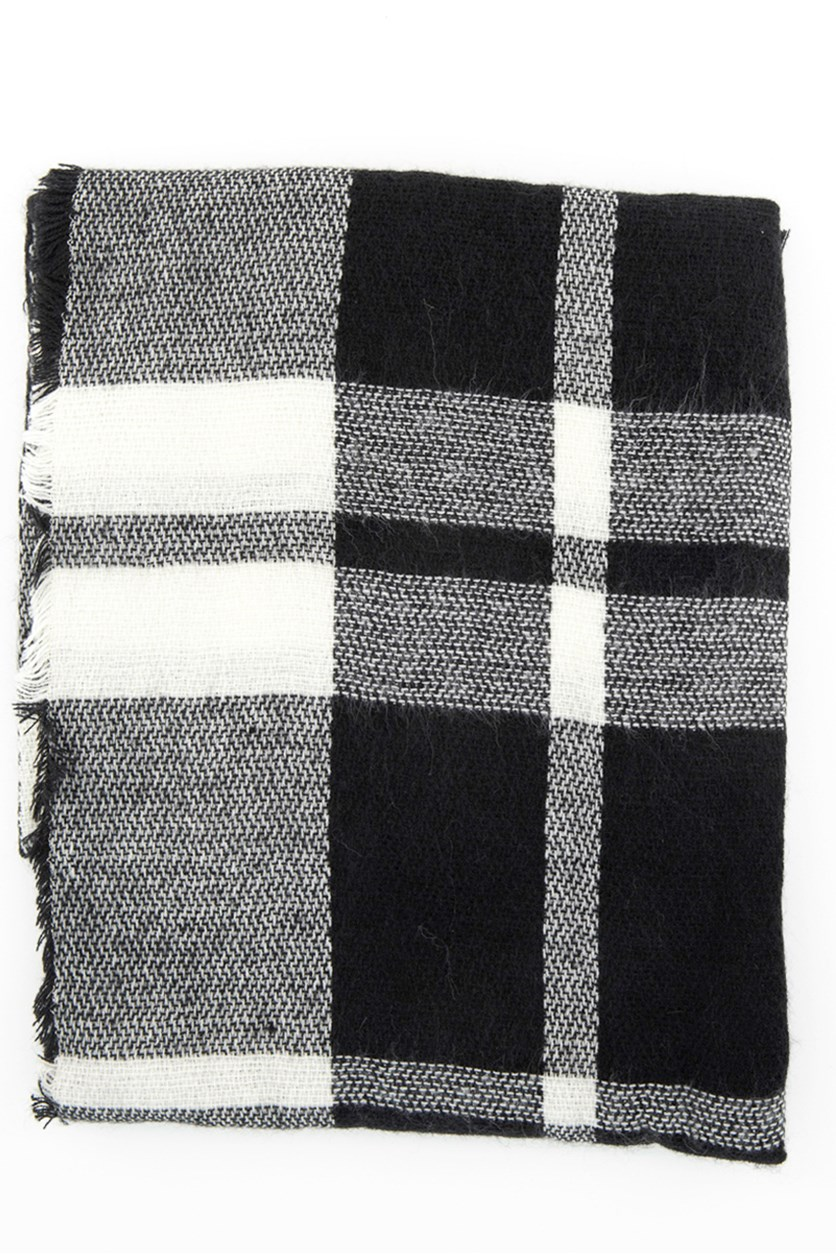 Unisex Checkered Scarves, Black Combo