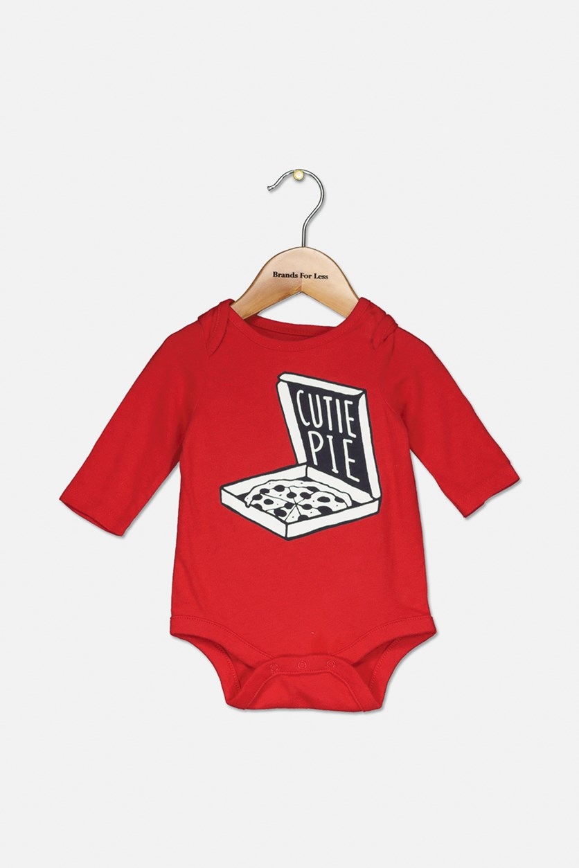 Toddlers Graphic Bodysuits, Red