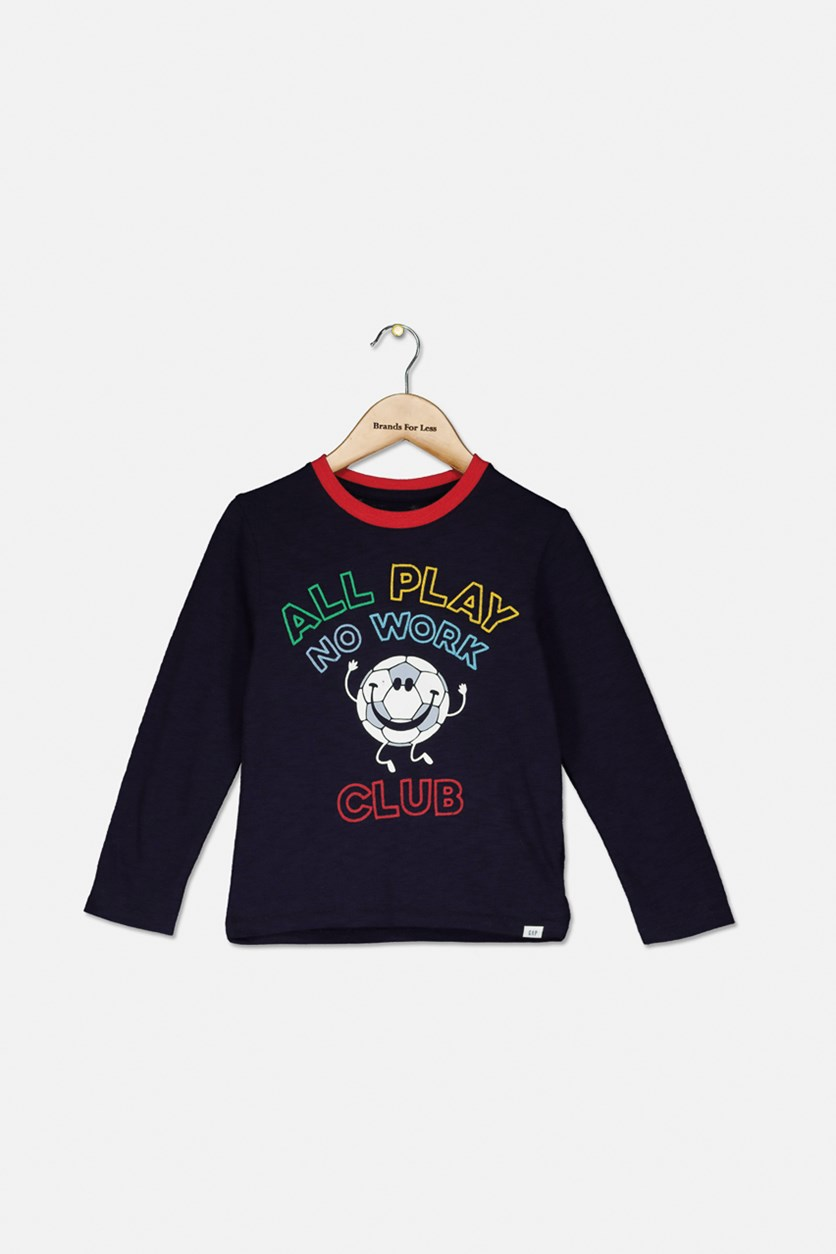 Kids Boys Long Sleeve Top, Navy Combo