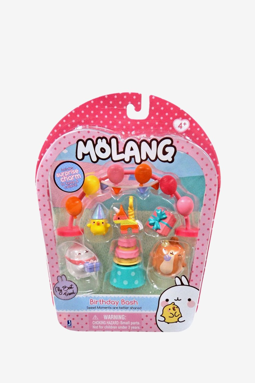 Molang Birthday Bash Figure Pack, Pink