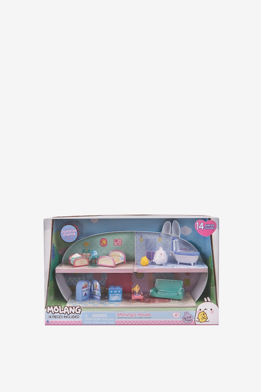 Disney Junior Molang's House Playset, Blue/Pink
