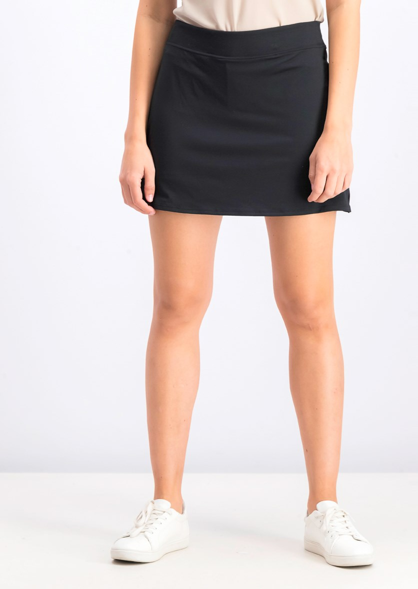 Women's Spandex Mini Skirt, Black
