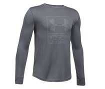Big Boy's Two-Tone Ua Tech Graphic-Print Shirt, Grey