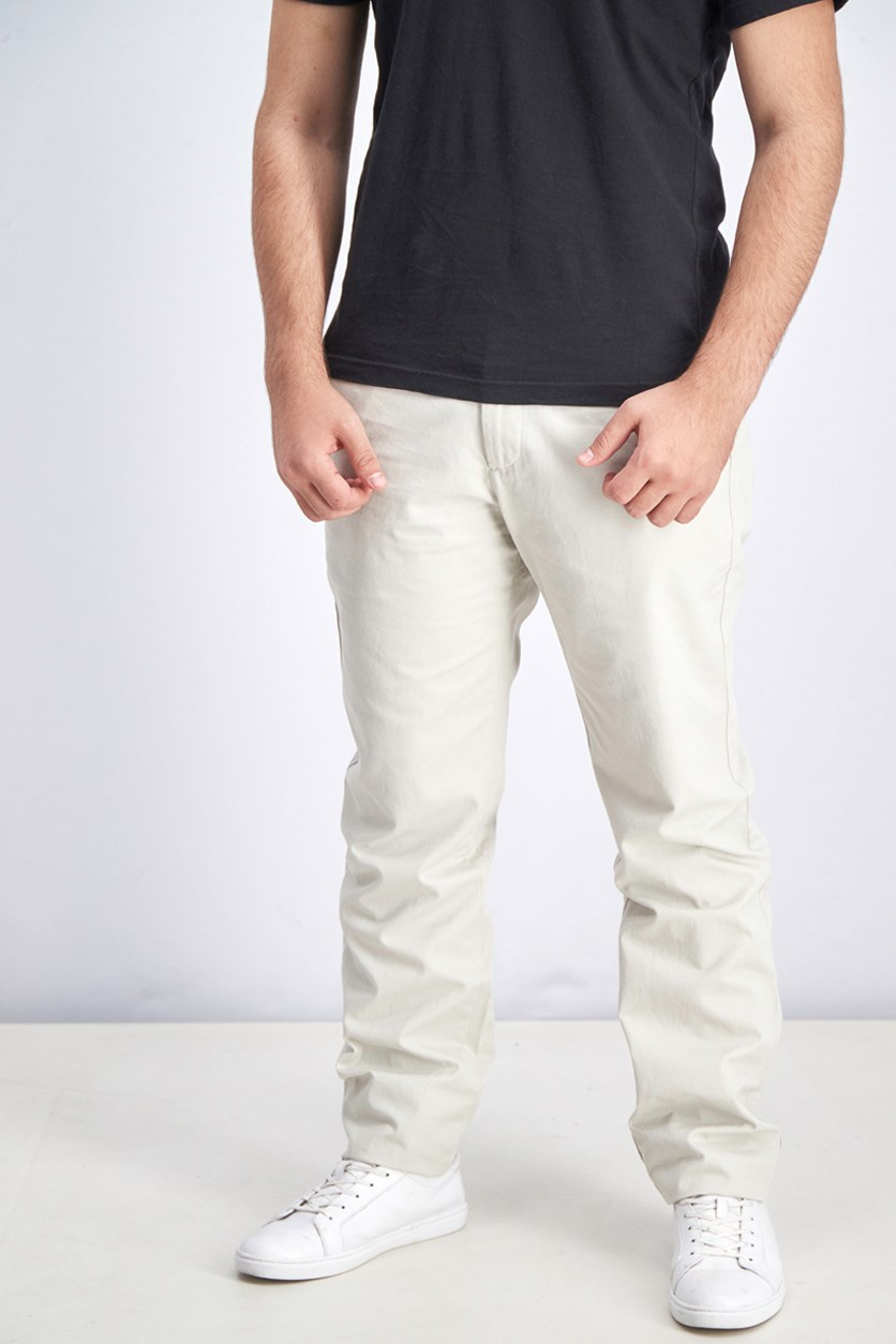 Men's Slim Chino Pants, Fresh Praline
