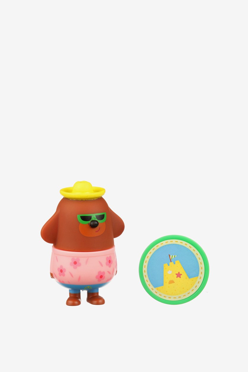 Hey Duggee Get Fit Duggee Figure With Badge, Brown/Pink