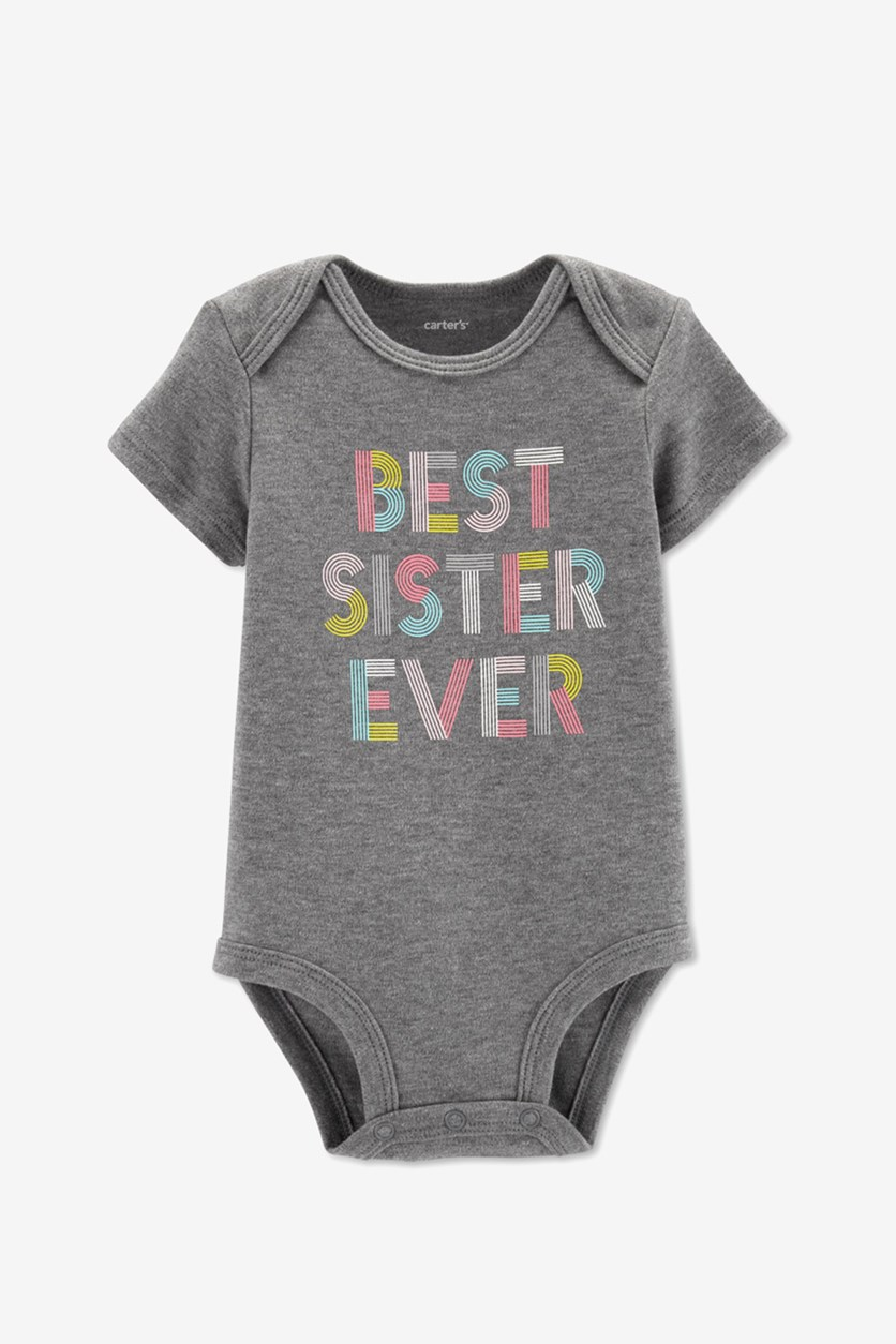 Toddlers Best Sister Ever Bodysuit, Grey