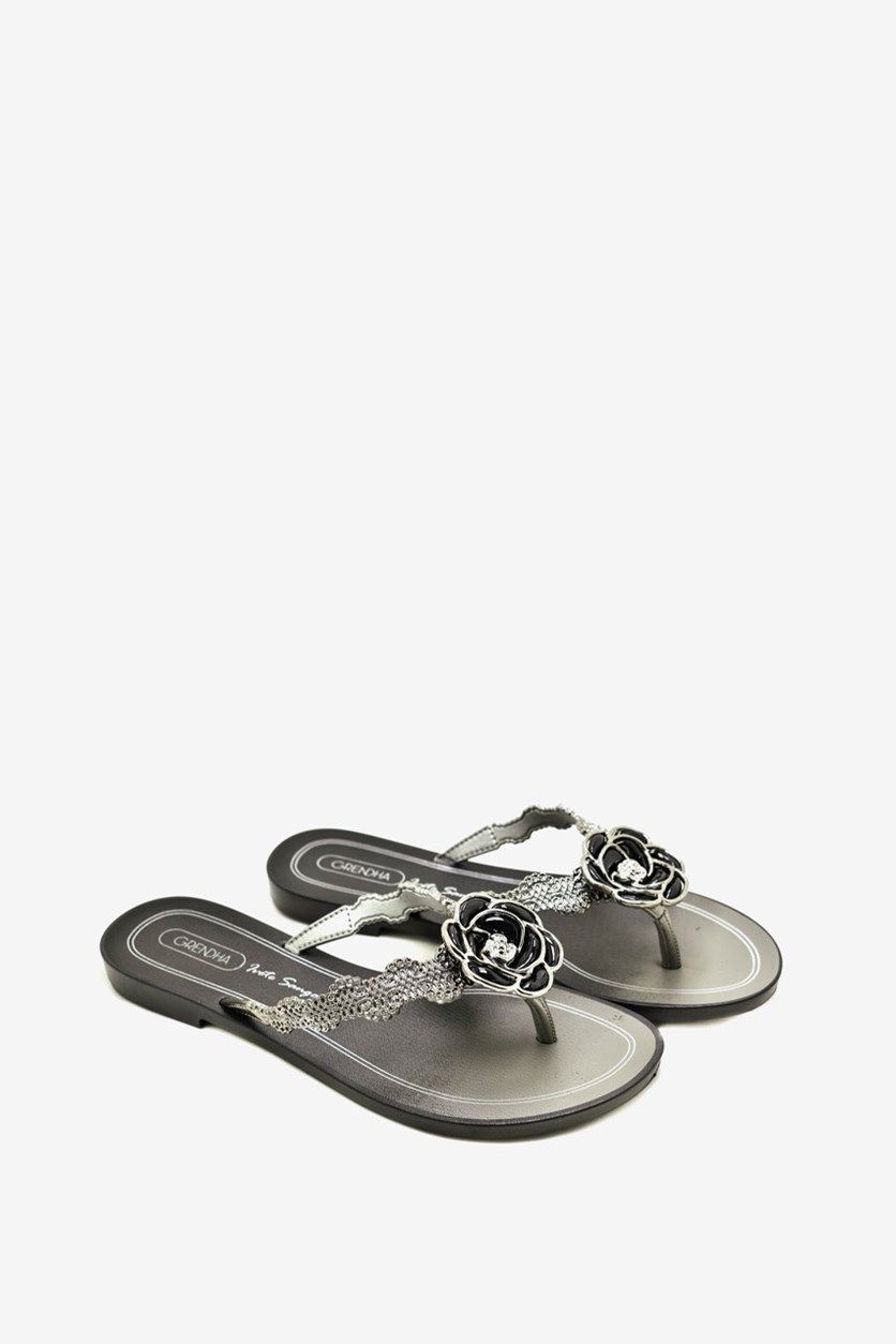 Women's Slip On Sandals, Black