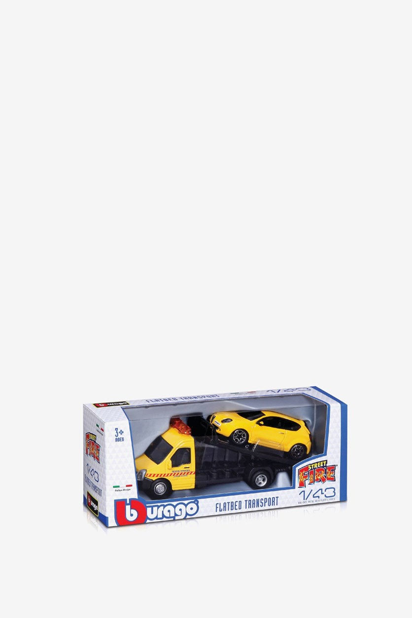Boy's Tow Truck with 1 vehicle, Yellow