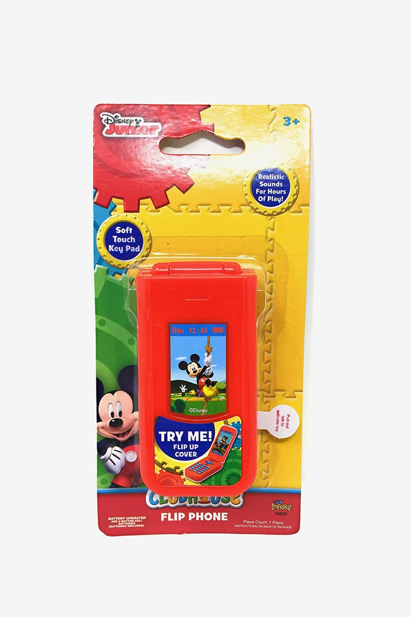 Disney Mickey Mouse Clubhouse Mouska-Fun Flip Phone, Red