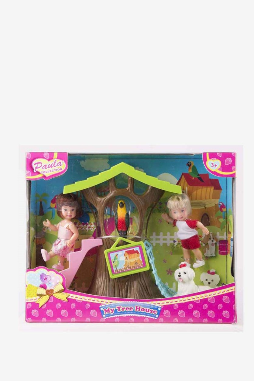 Girl's Tree House Playset, Pink Combo