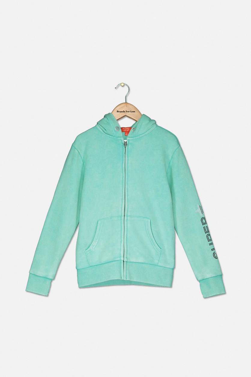 Big Girls' Fleece Superstar Hoodie, Mint
