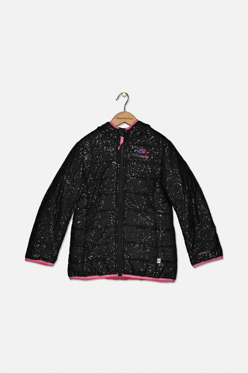 Kid's Girl Hoodie Jacket, Black