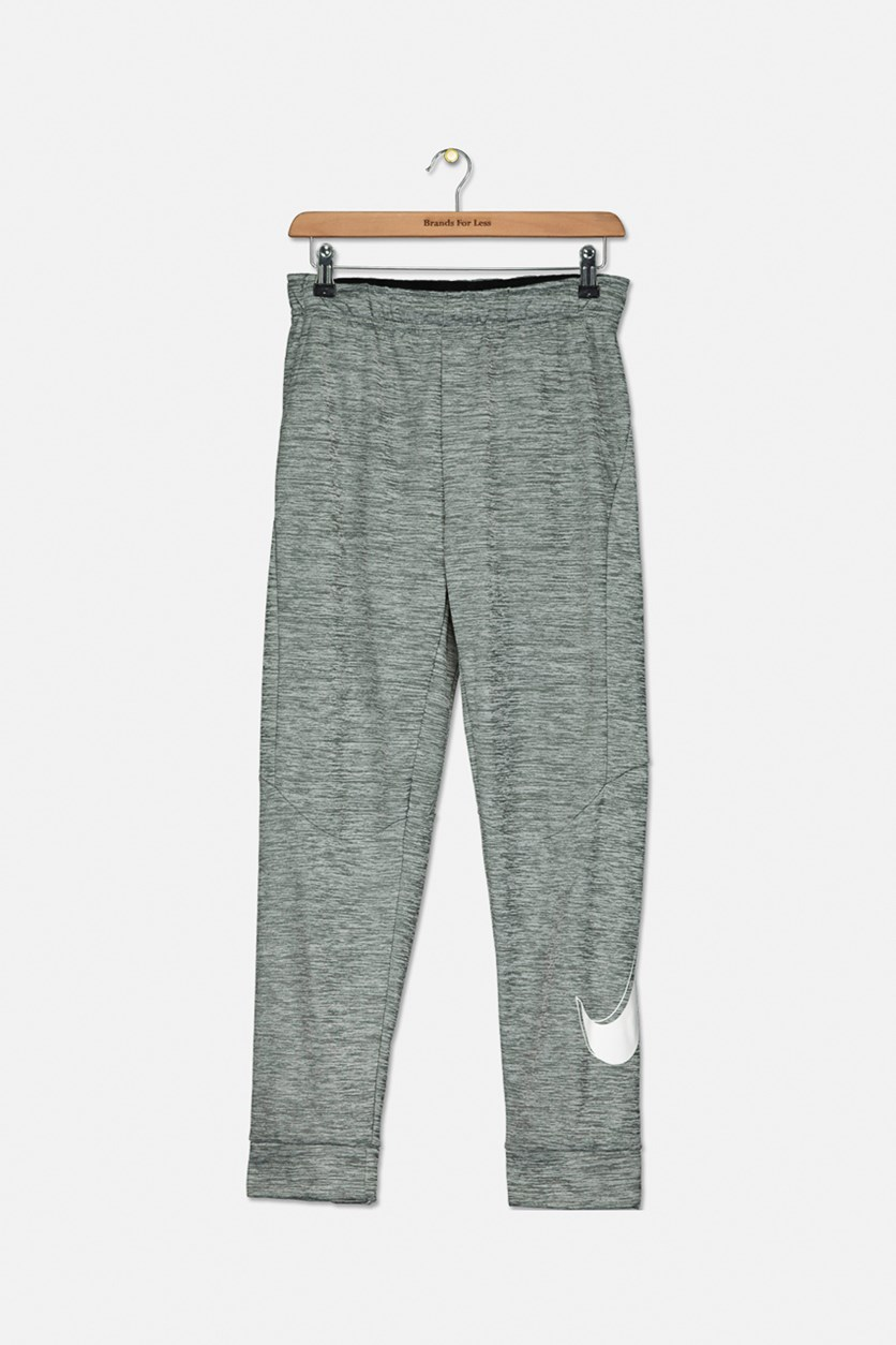 Boys Therma Graphic Tapered Training Pants, Heather Grey