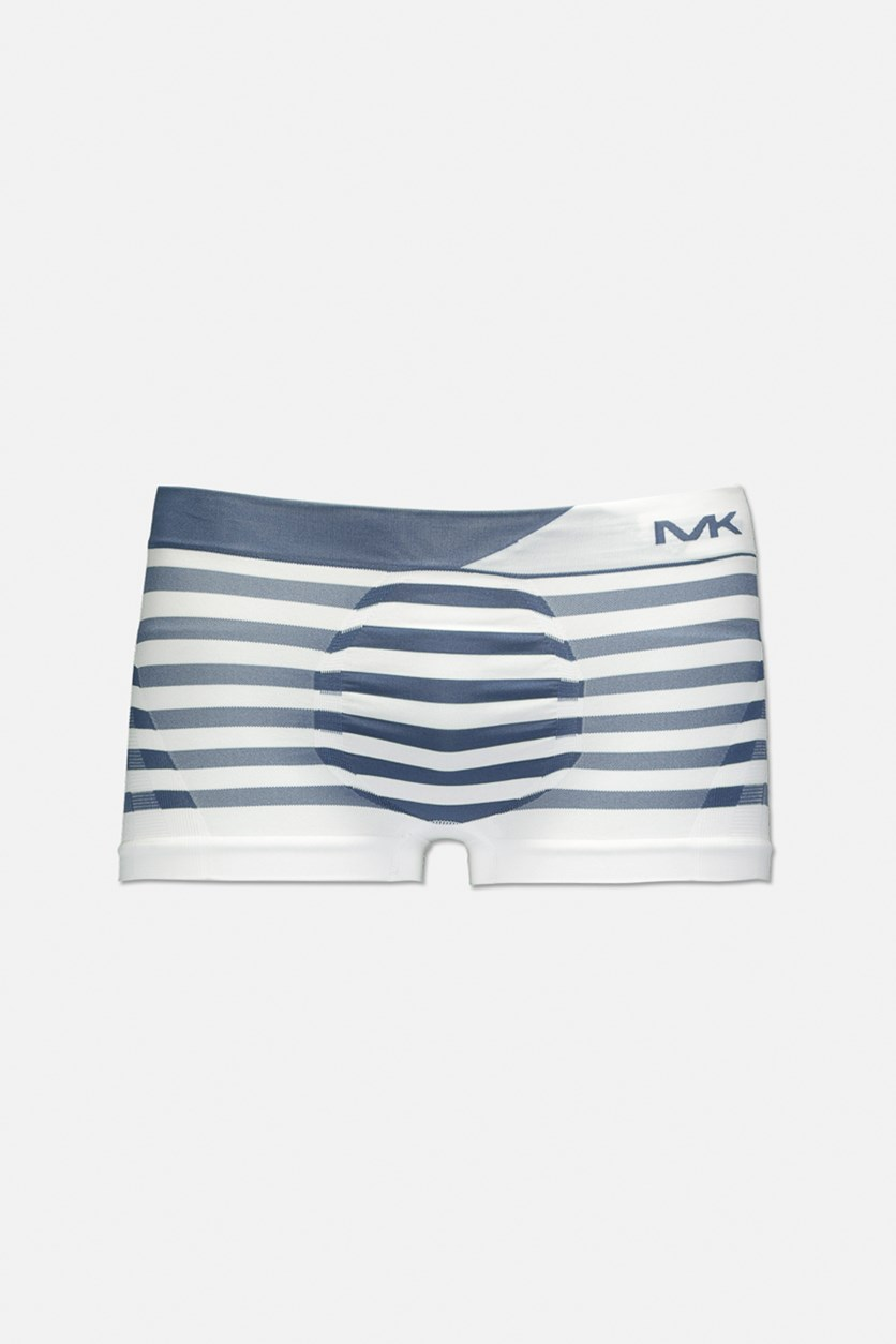 Men's Seamless Stripes Trunk, Navy Blue