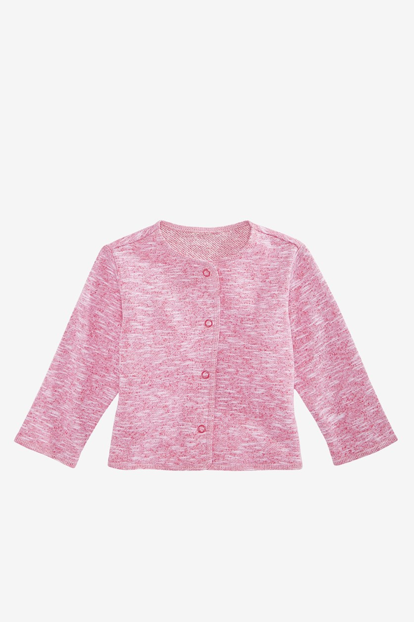 Baby Girls Button-Front Cardigan, Cherry Red